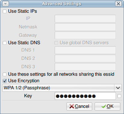 wicd's advanced settings dialog